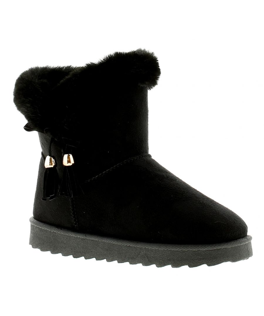Image for Ladies Synthetic Boot With Top Fur Lining And Side Tassle