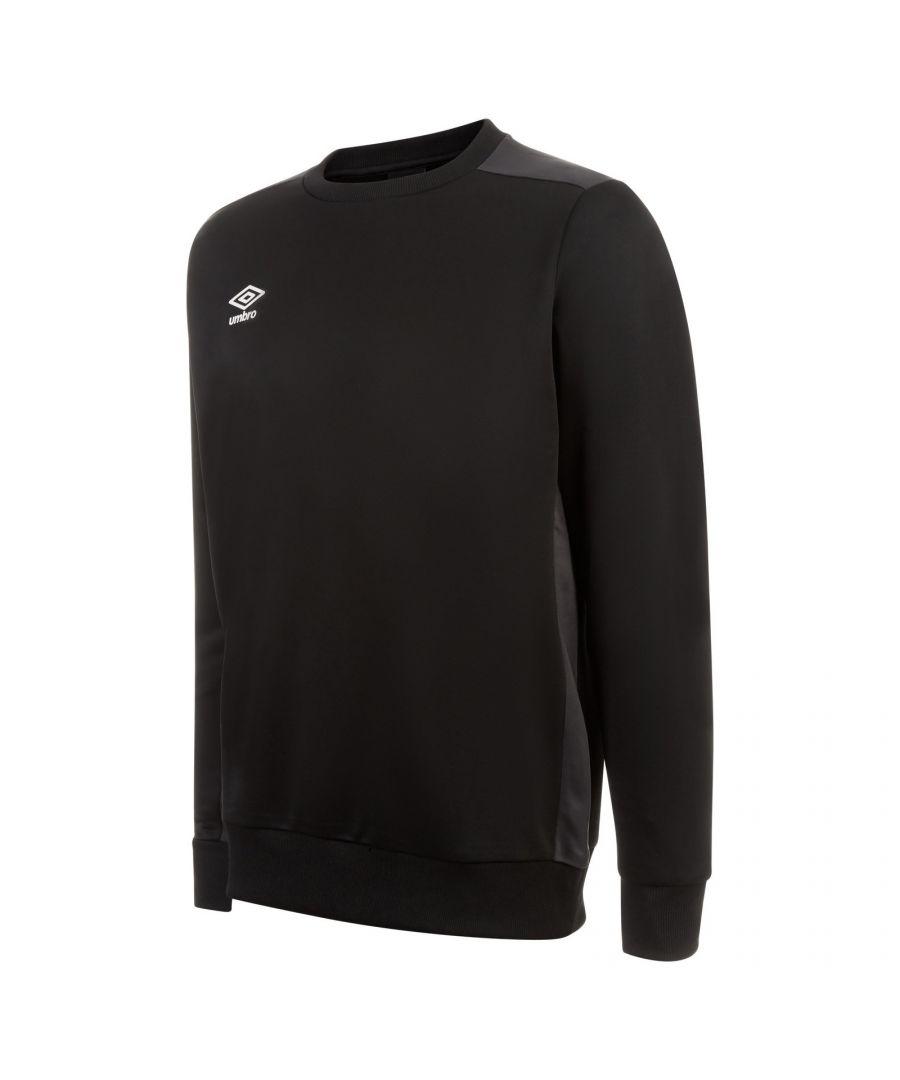 Image for Umbro Boys Fleece Training Sweatshirt (Black/Carbon Grey)