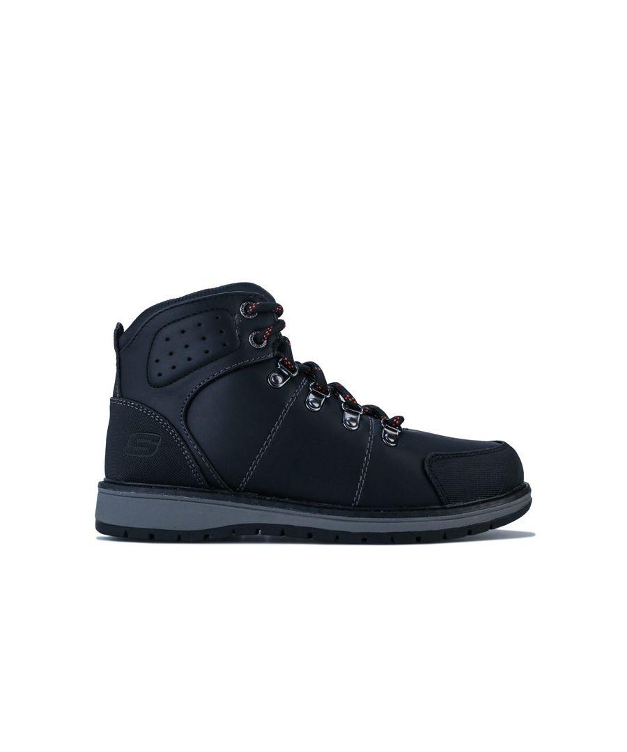 Image for Boy's Skechers Junior Gravlen Metro Trek Boots in Black