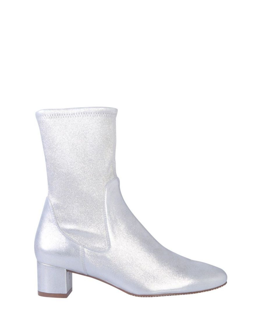 Image for STUART WEITZMAN WOMEN'S ERNESTINEWEDSUEDESILVER SILVER ANKLE BOOTS