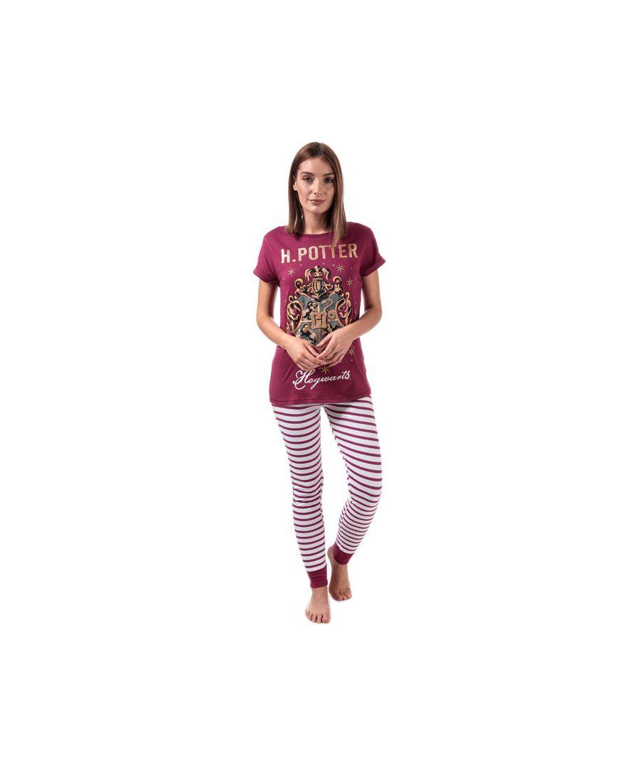 Image for Women's Warner Bros Hogwarts Pyjamas in Burgundy