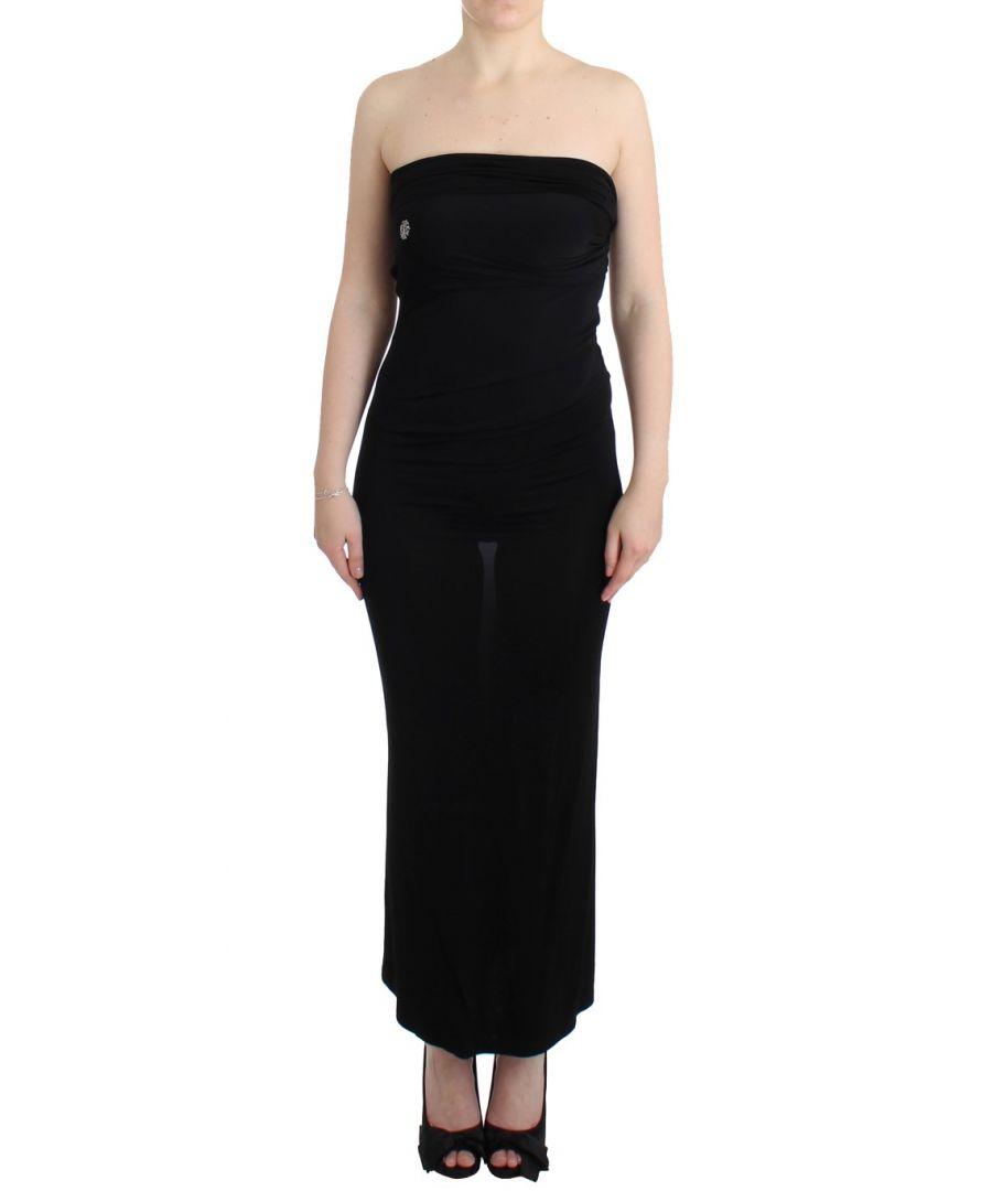 Image for Cavalli Black strapless maxi dress