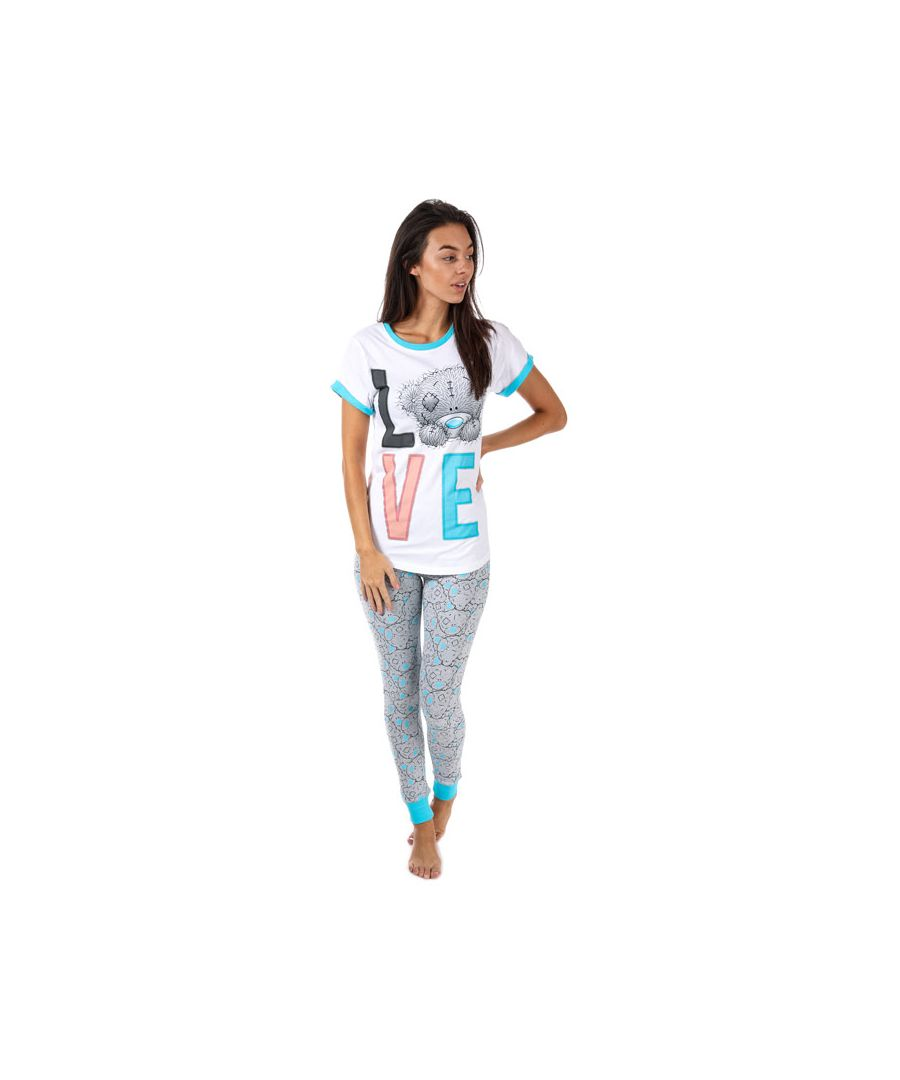 Image for Women's Me To You Tatty Teddy Love Pyjamas in Blue