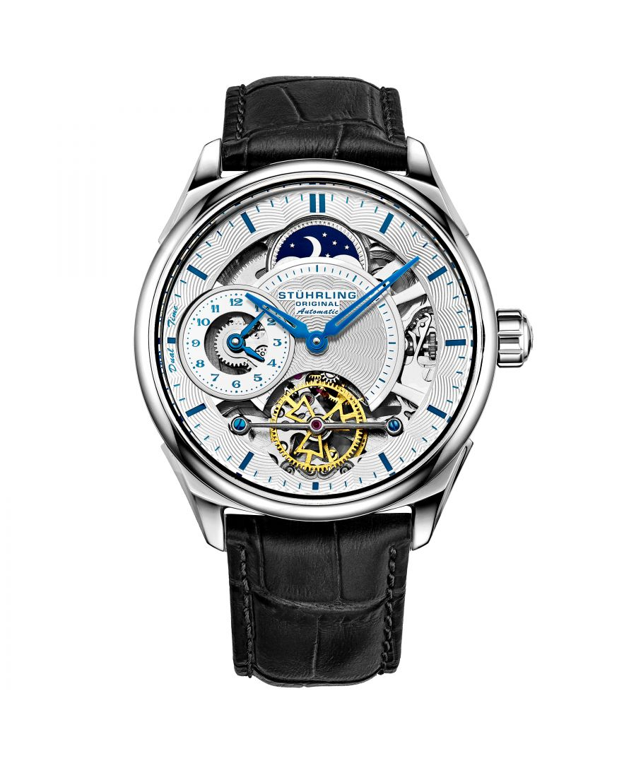 Image for Black and Silver Presidia Automatic 42mm Skeleton