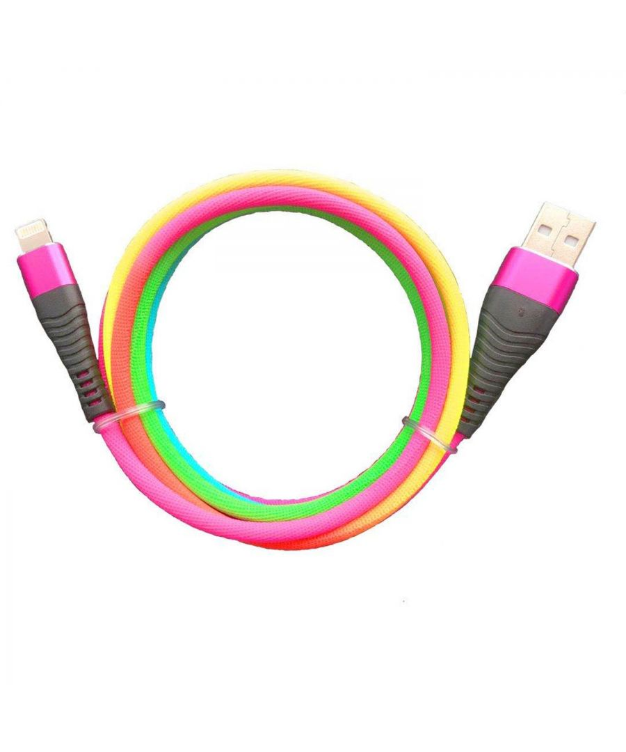Image for Aquarius 2m Rainbow Cable Compatible with iPhone