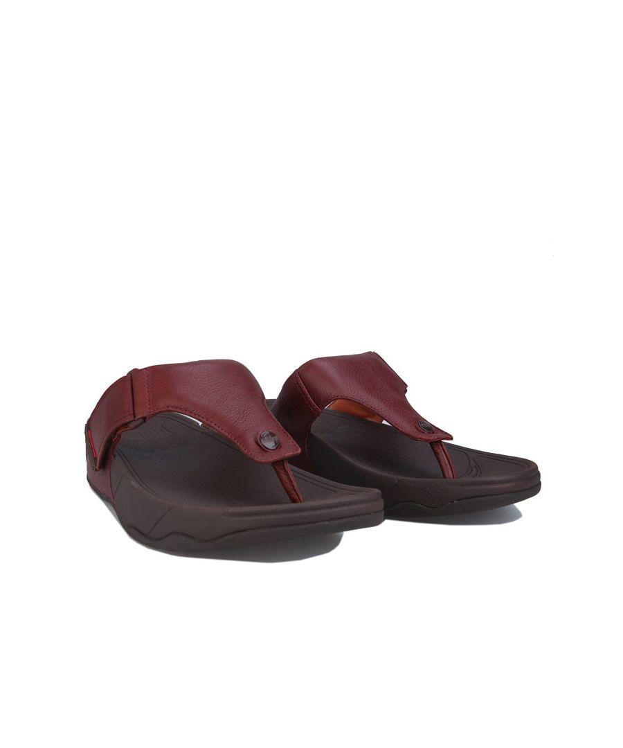 Image for Men's Fit Flop Trakk II Toe-Thong Sandals in Burgundy