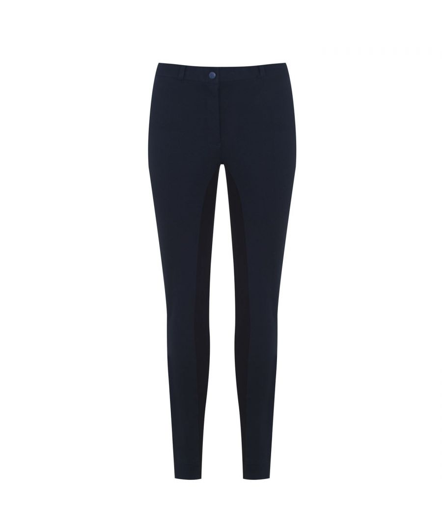 Image for Requisite Womens Ladies 2 Tone Jodhpurs Equestrian Pants Trousers Bottoms Sports