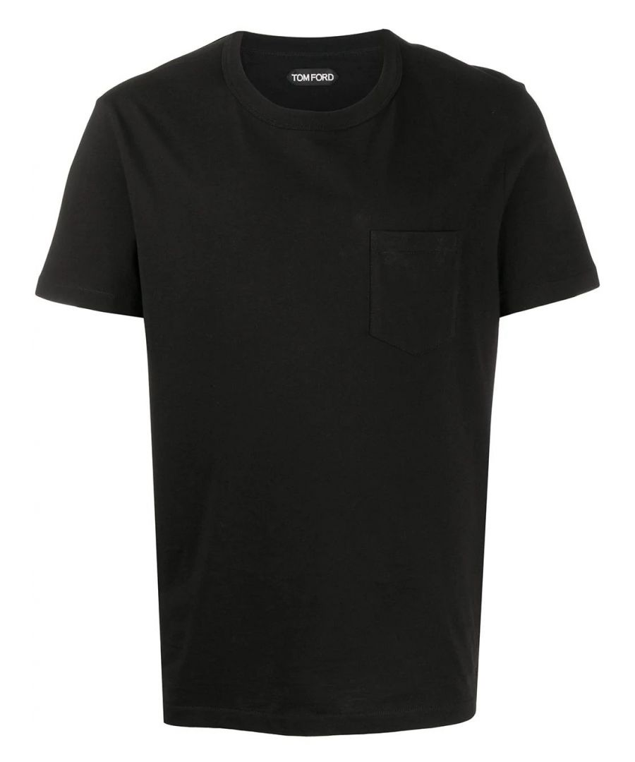 Image for TOM FORD MEN'S TFJ902BU402K09 BLACK COTTON T-SHIRT