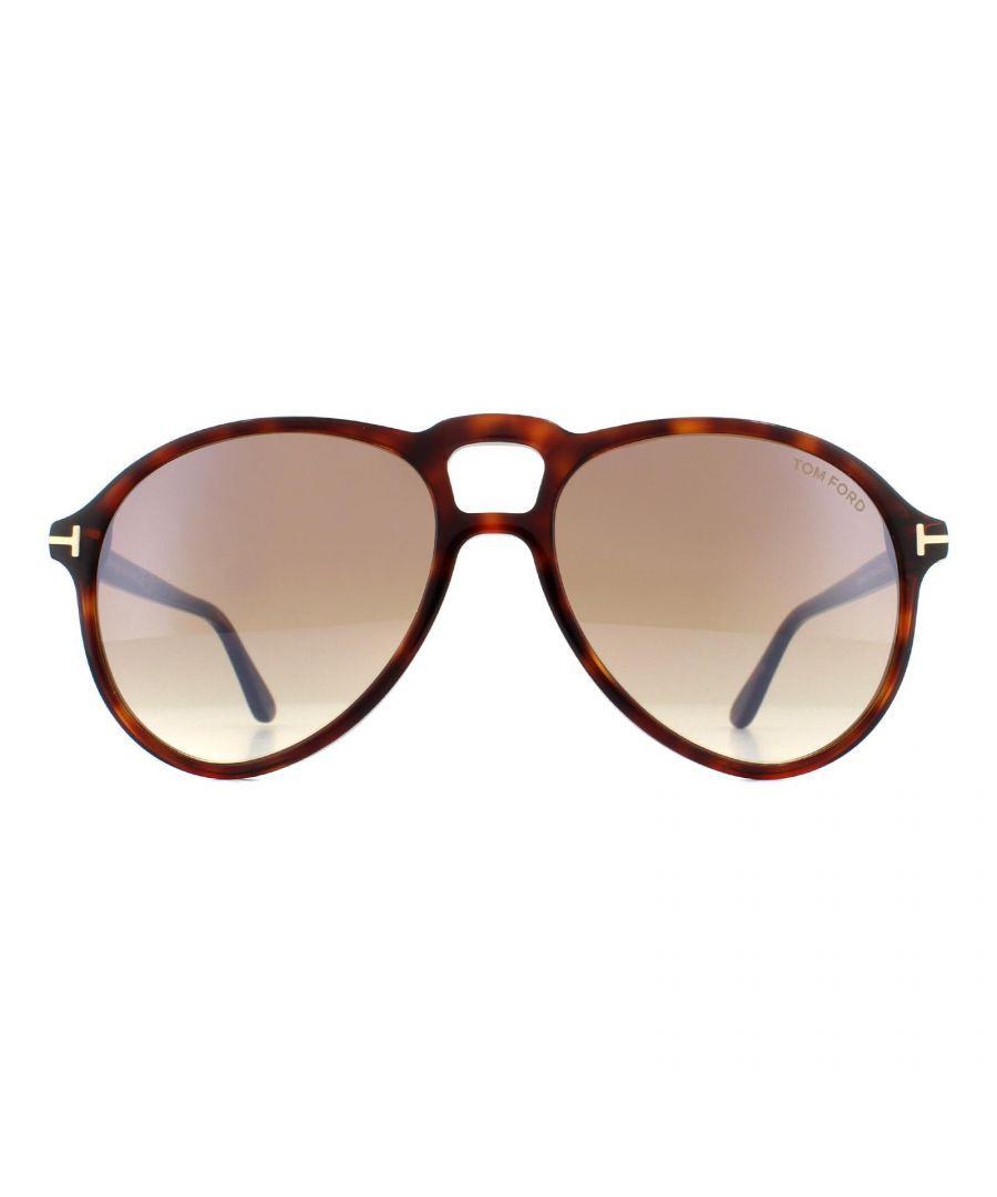 Image for Tom Ford Sunglasses 0645 Lennon 52G Dark Havana Brown Gradient