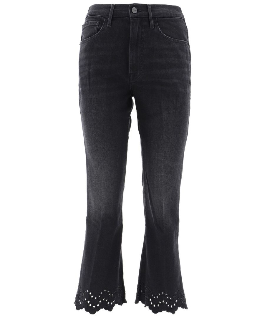 Image for FRAME WOMEN'S SCHCF795LACEY BLACK COTTON JEANS