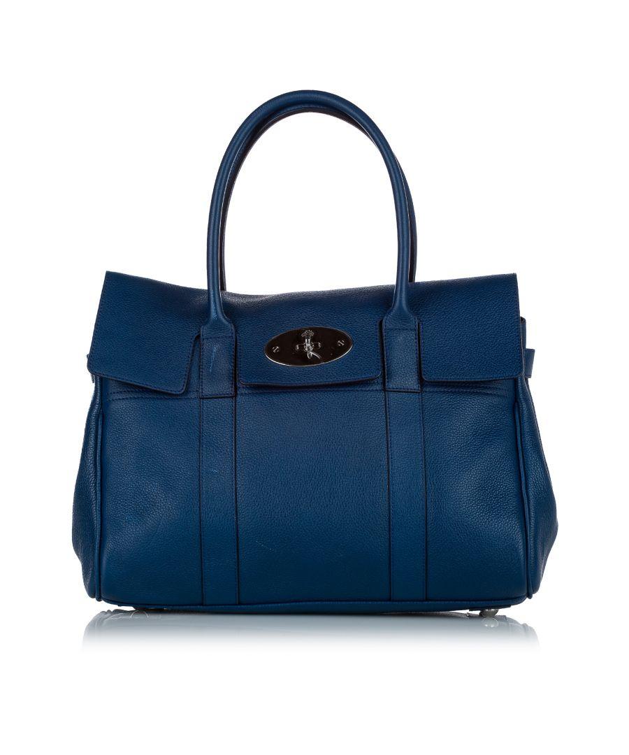 Image for Vintage Mulberry Bayswater Leather Handbag Blue