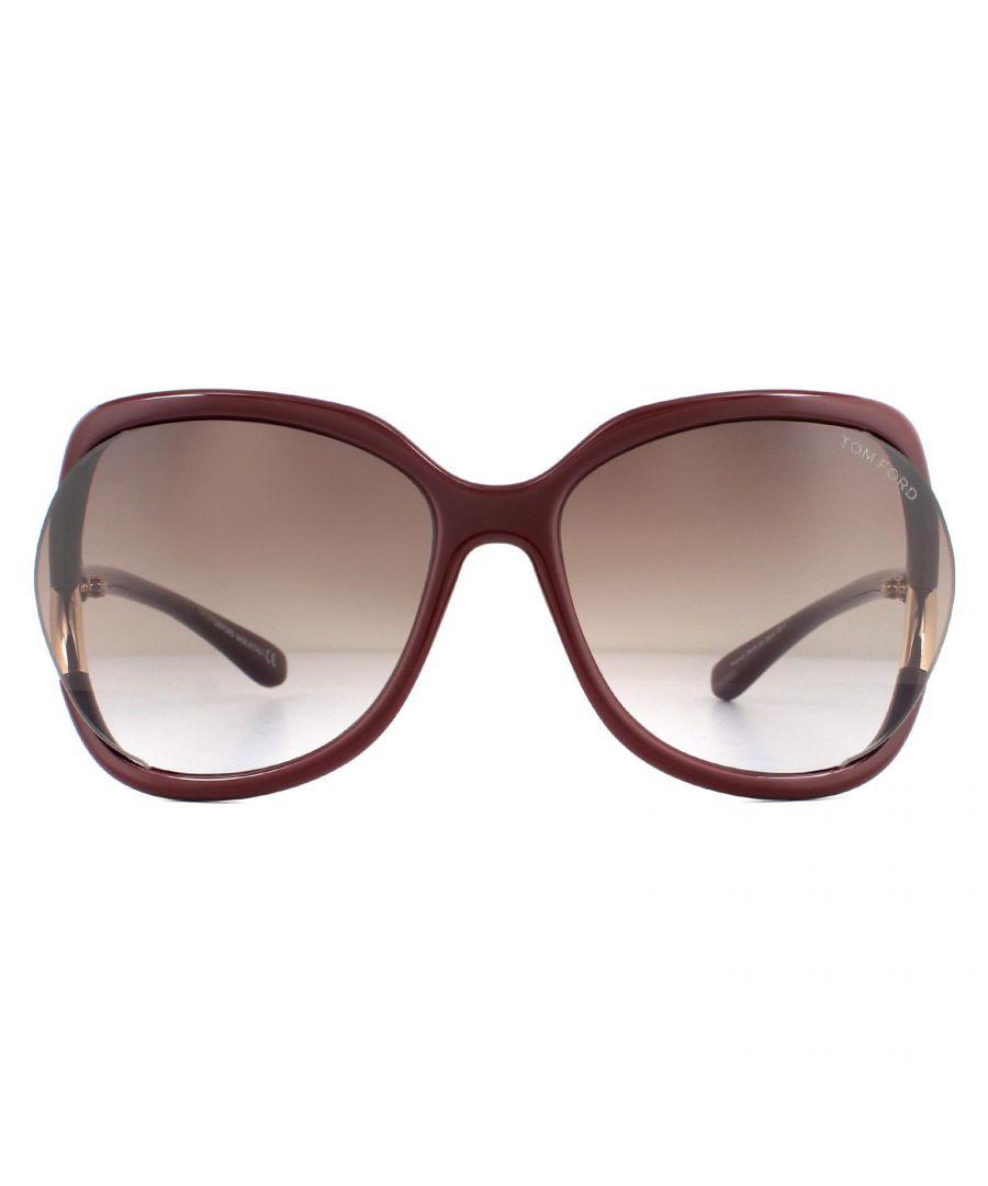 Image for Tom Ford Sunglasses Anouk FT0578 69T Shiny Bordeaux Bordeaux Gradient