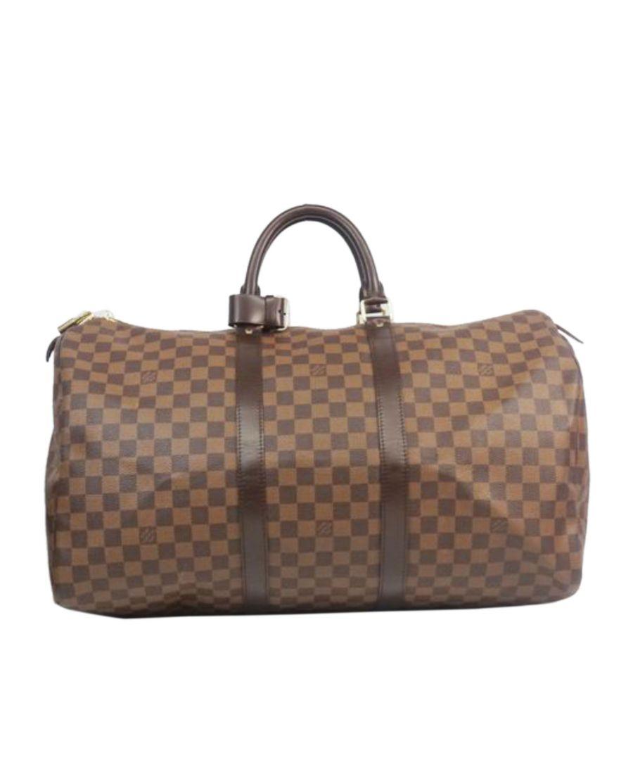 Image for Vintage Louis Vuitton Damier Ebene Keepall 50 Brown