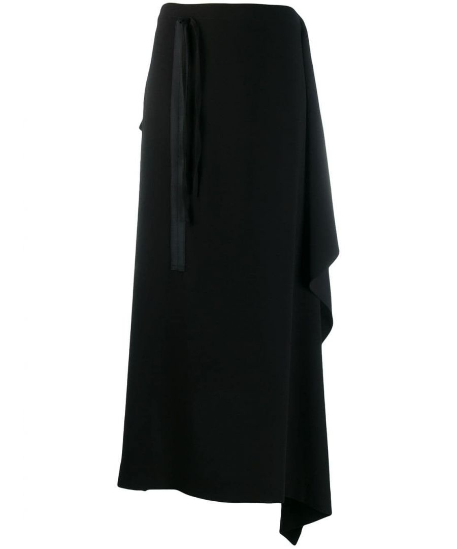 Image for MCQ BY ALEXANDER MCQUEEN WOMEN'S 567366RNF111000 BLACK ACETATE SKIRT