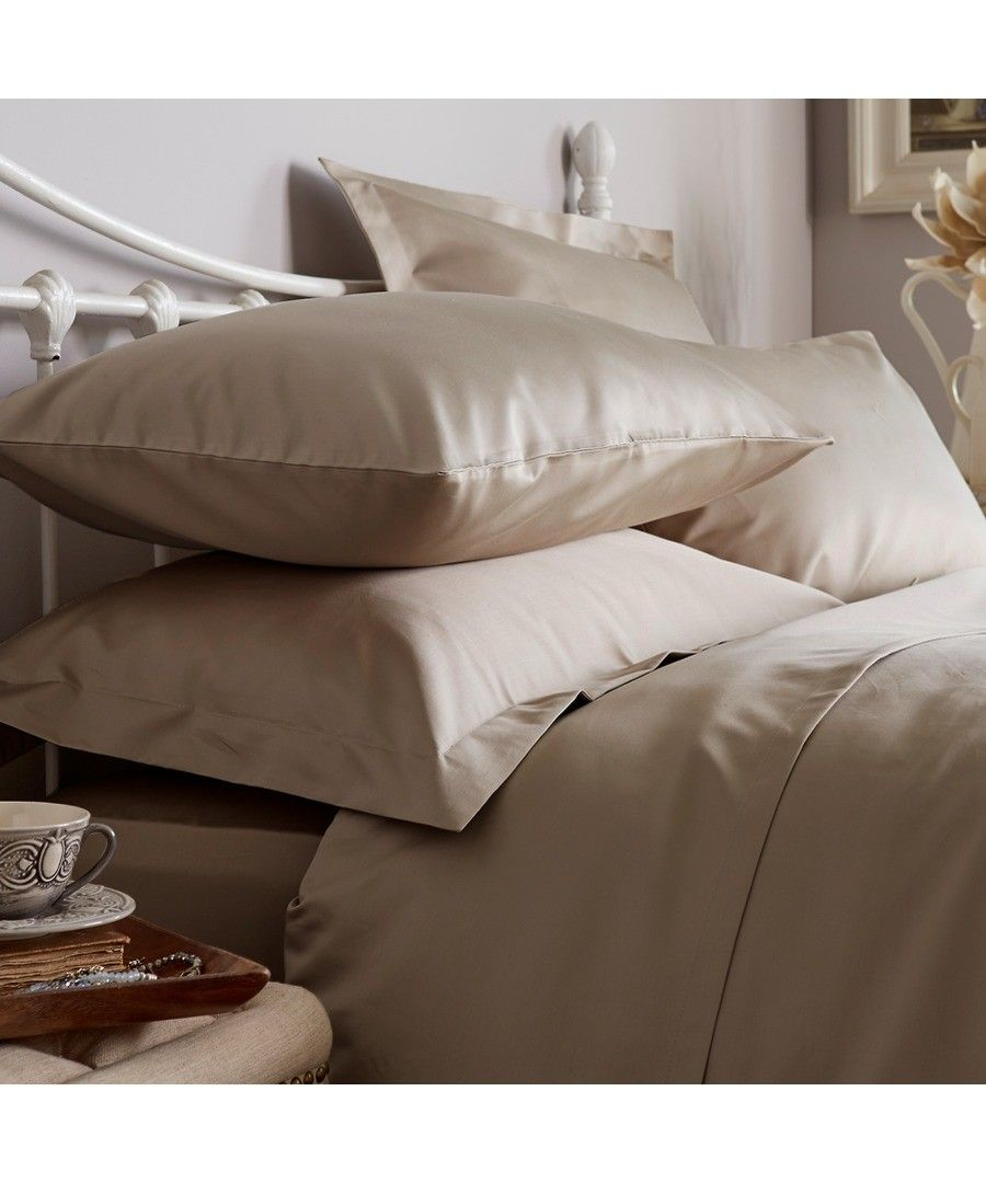 Image for 1000 Thread Count Fitted Sheet - Flax