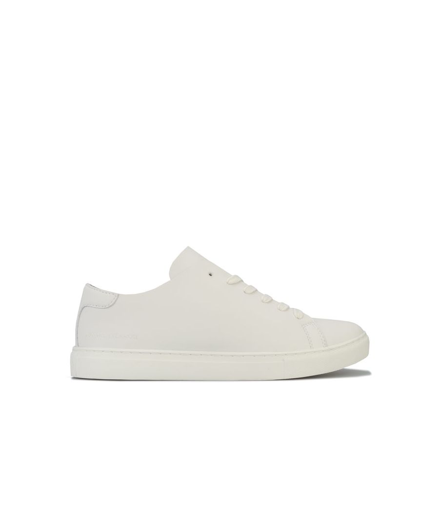 Image for Men's Armani Exchange Logo Pump Trainers in White