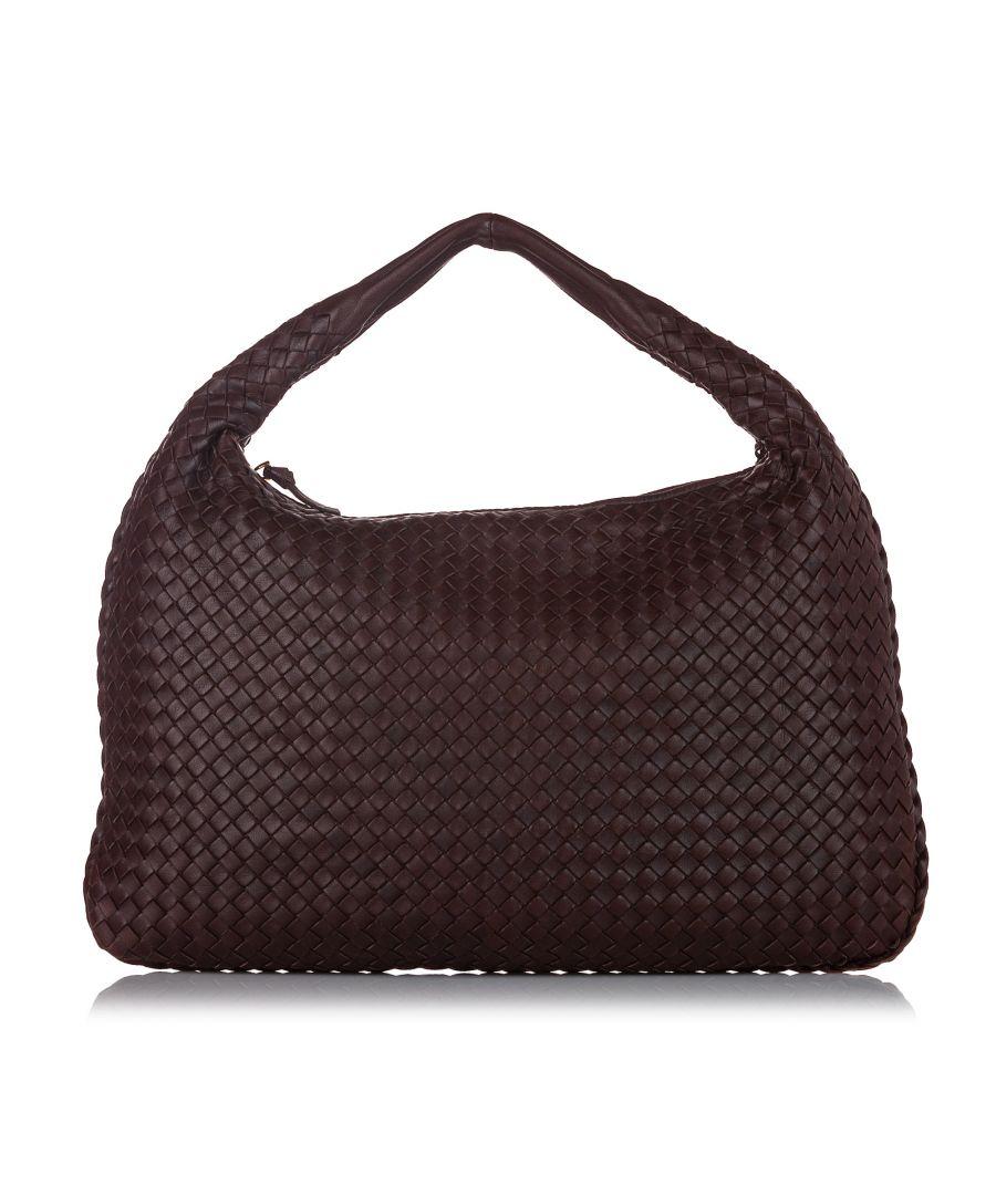 Image for Vintage Bottega Veneta Intrecciato Leather Hobo Bag Brown