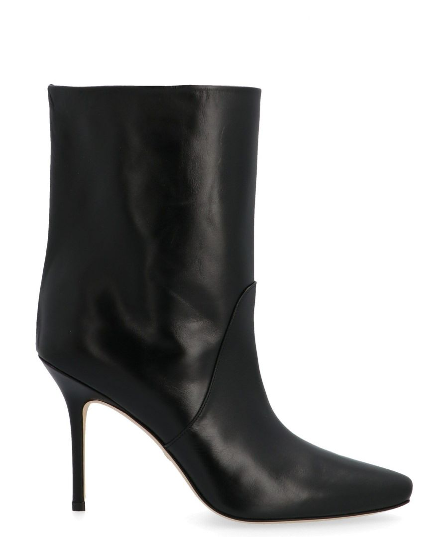 Image for STUART WEITZMAN WOMEN'S EBBSMOOTHCALFBLACK BLACK LEATHER ANKLE BOOTS