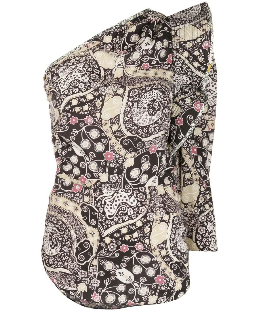 Image for ISABEL MARANT ÉTOILE WOMEN'S HT163220P024EBKBE MULTICOLOR VISCOSE TOP