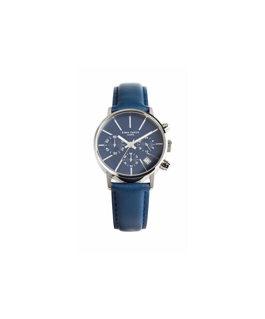 Image for Simon Carter LT001 Chronograph Watch Blue