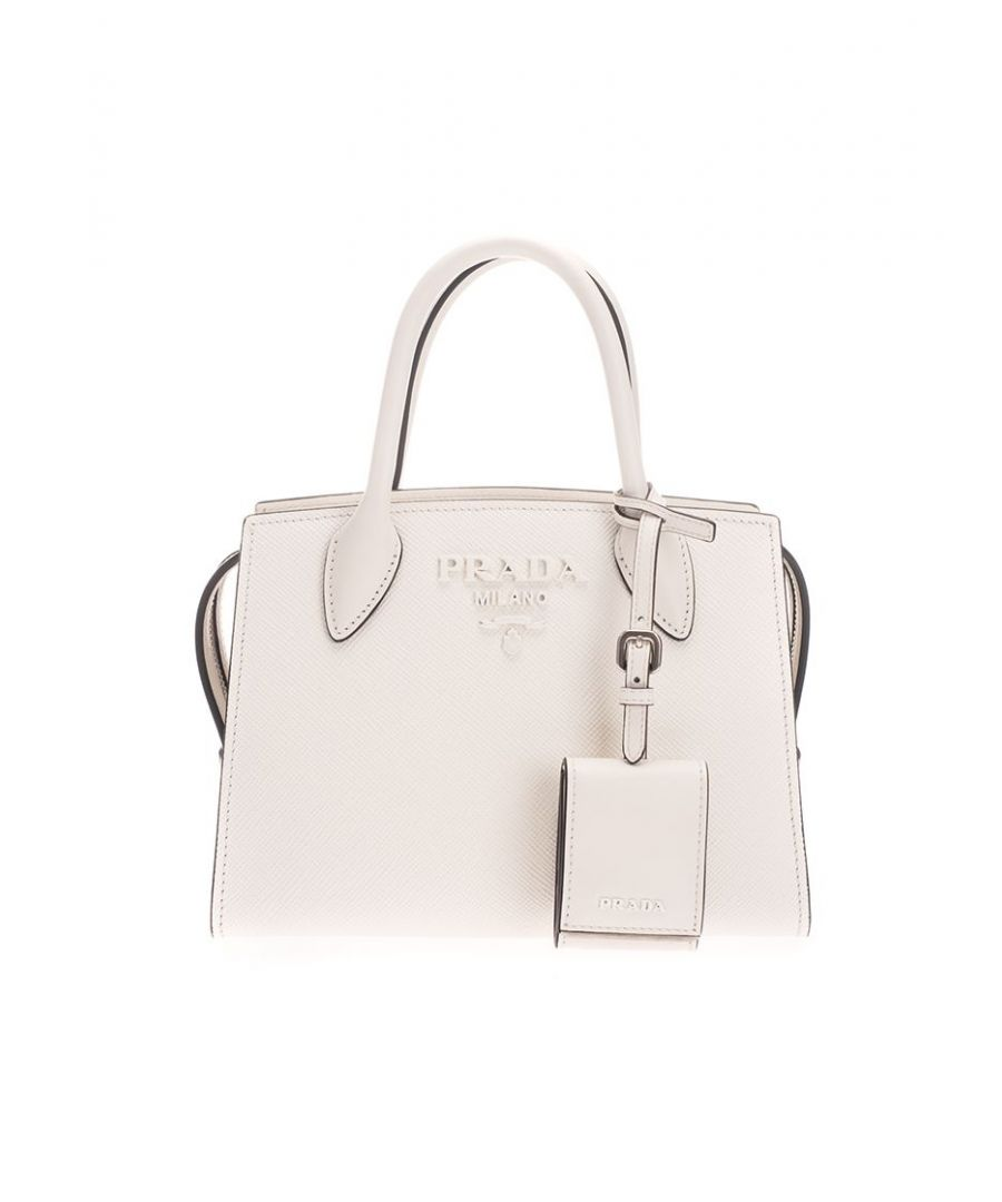 Image for PRADA WOMEN'S 1BA269VNOO2ERXF097W WHITE LEATHER HANDBAG