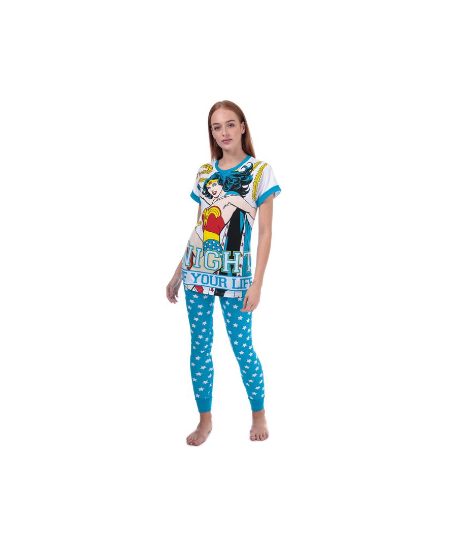 Image for Women's DC Comics Wonder Woman Pyjamas in Blue