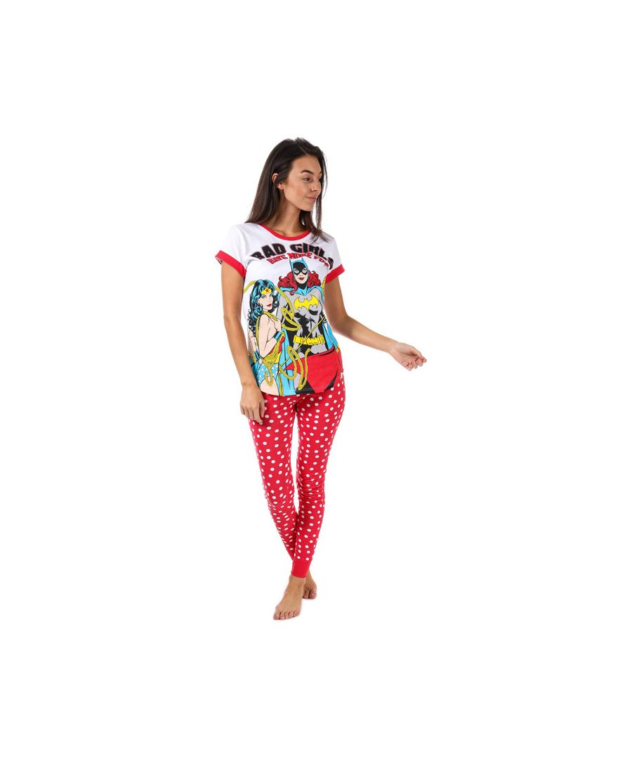Image for Women's DC Comics Justice League Pyjamas in Red