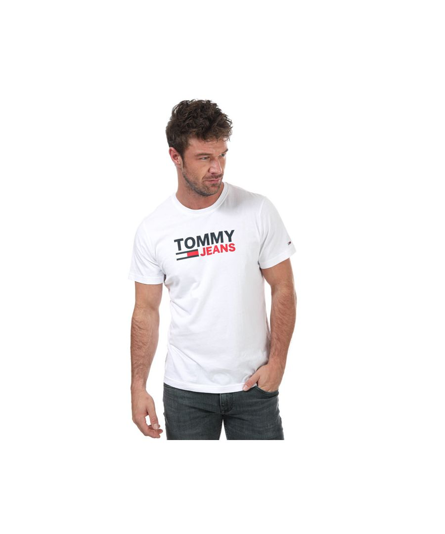 Image for Men's Tommy Hilfiger Organic Large Logo T-Shirt in White