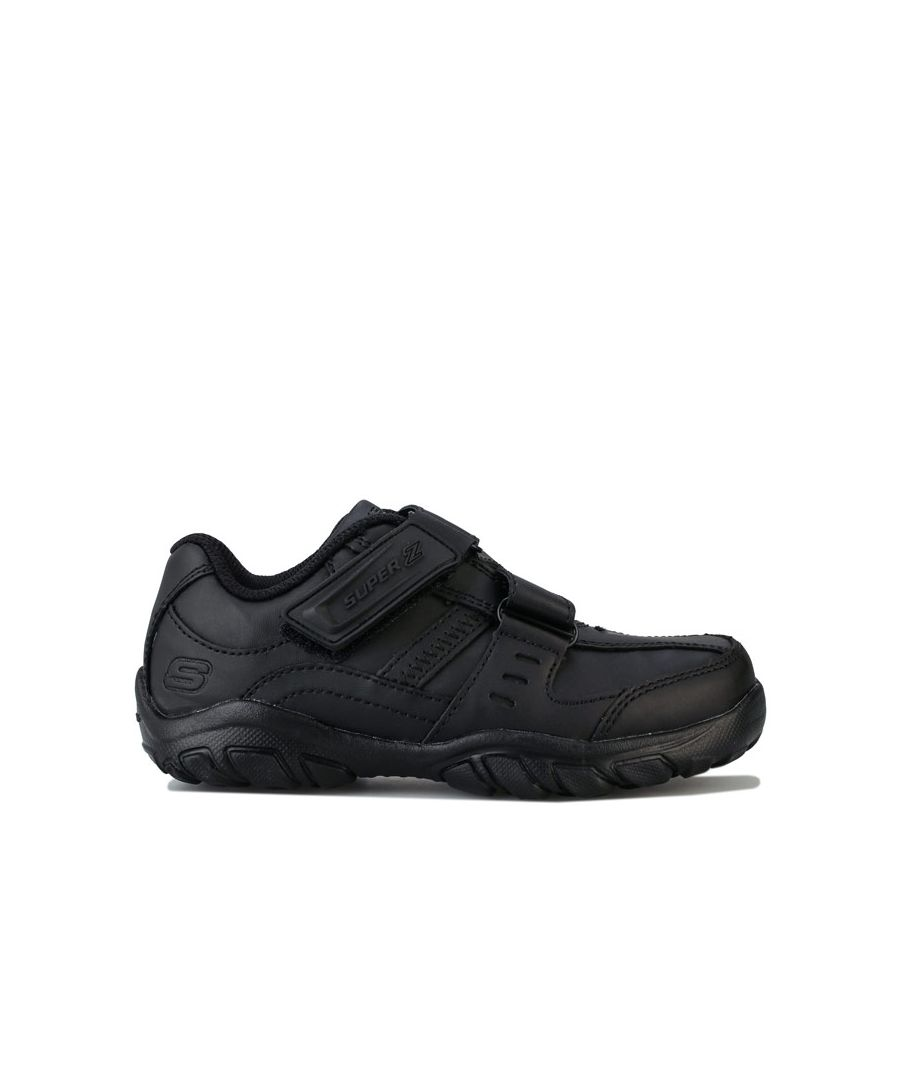 Image for Boy's Skechers Junior Grambler Zeem Trainers in Black