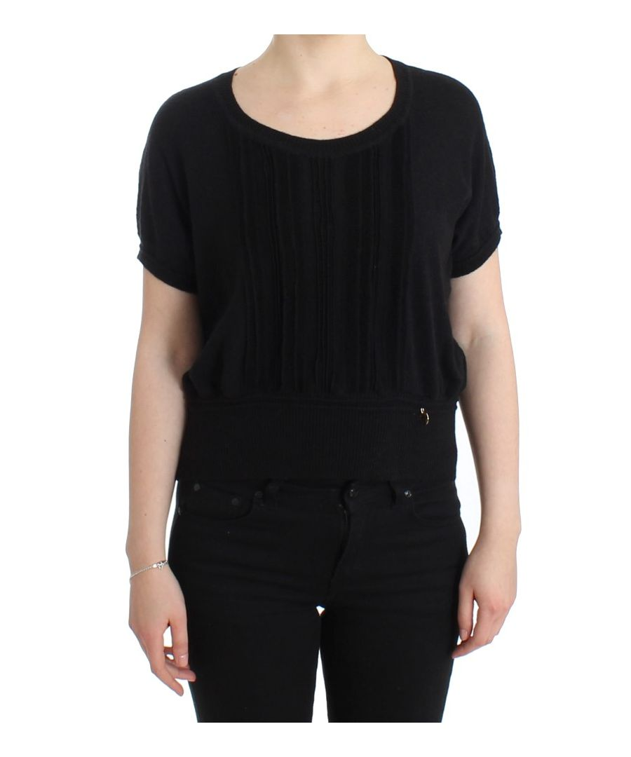 Image for Cavalli Black short sleeved jumper