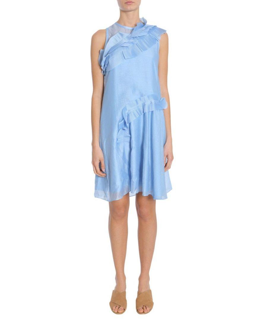 Image for CARVEN WOMEN'S 3051R38504 LIGHT BLUE POLYESTER DRESS