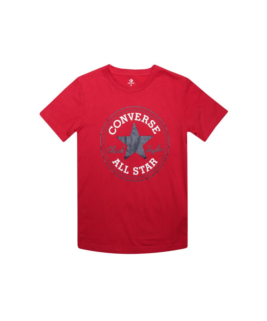 Image for Boy's Converse Junior Core Patch T-Shirt in Red