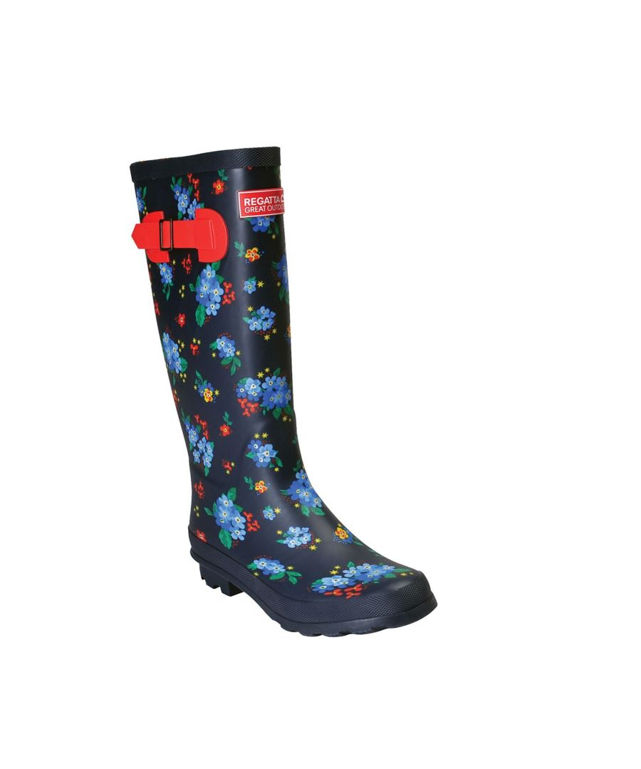Image for Regatta Womens/Ladies Ly Fairweather II Tall Durable Wellington Boots (Navy/Red)