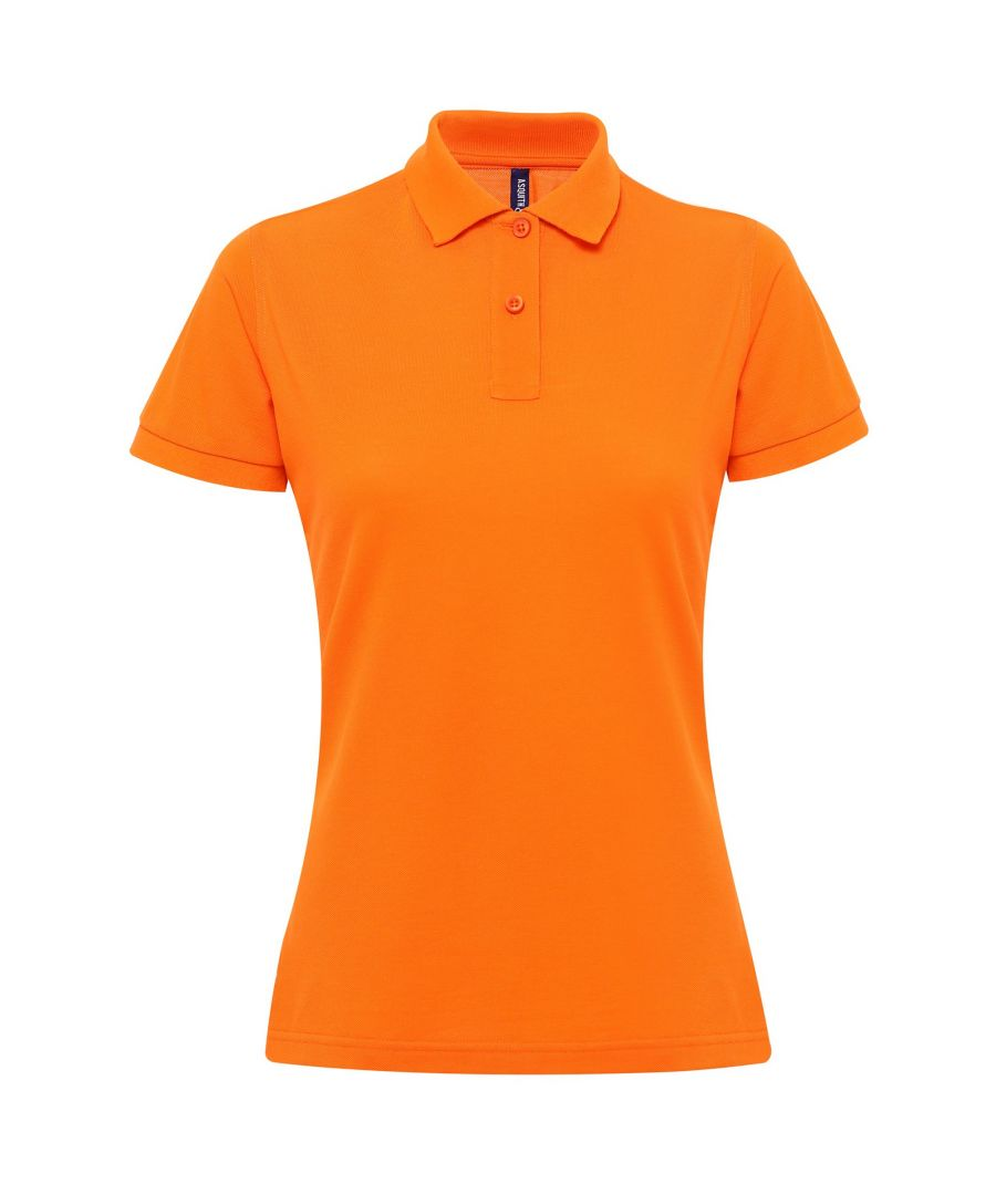 Image for Asquith & Fox Womens/Ladies Short Sleeve Performance Blend Polo Shirt (Orange)
