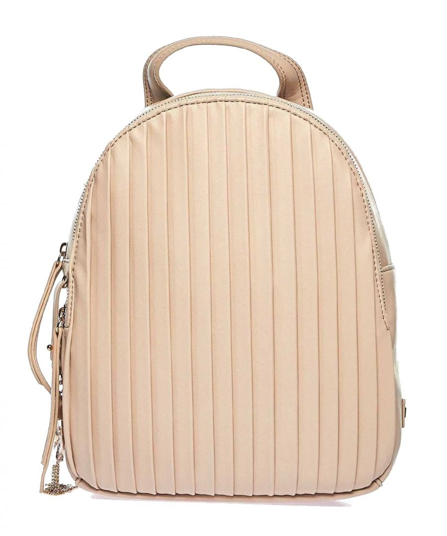 Image for LIU JO WOMEN'S NA0012E001051308 PINK LEATHER BACKPACK