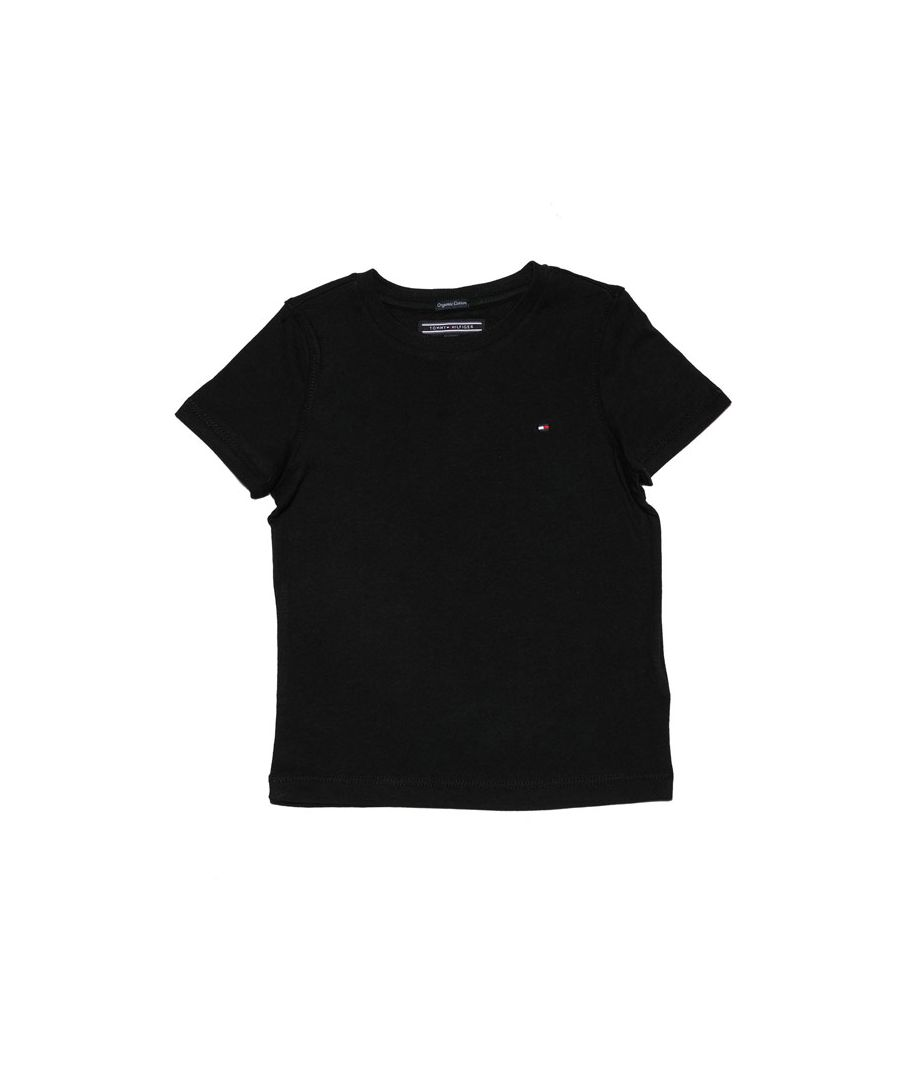 Image for Boy's Tommy Hilfiger infant Essential Organic Cotton T-Shirt in Black