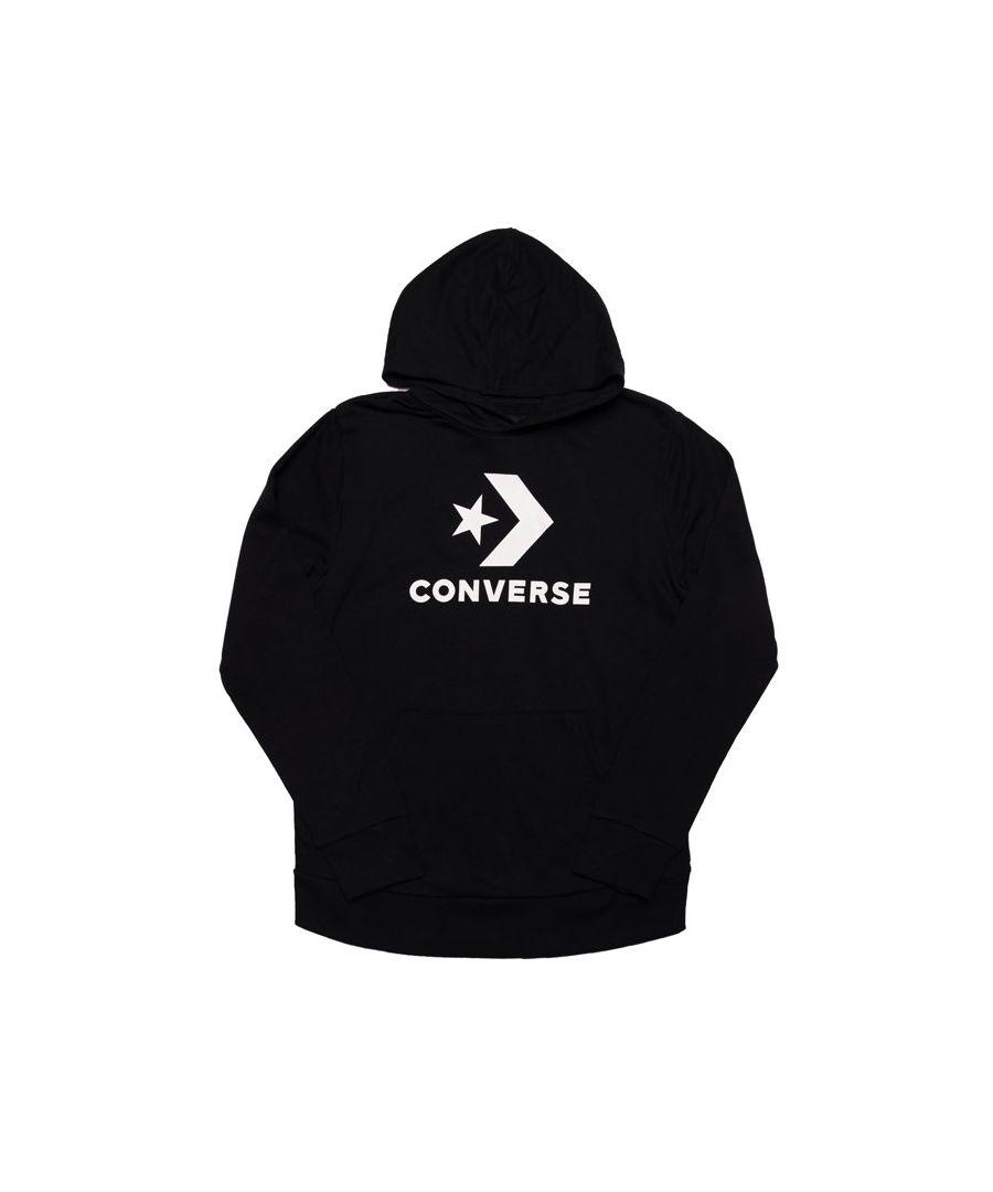 Image for Boy's Converse Junior Stacked Wordmark Fleece Hoody in Black