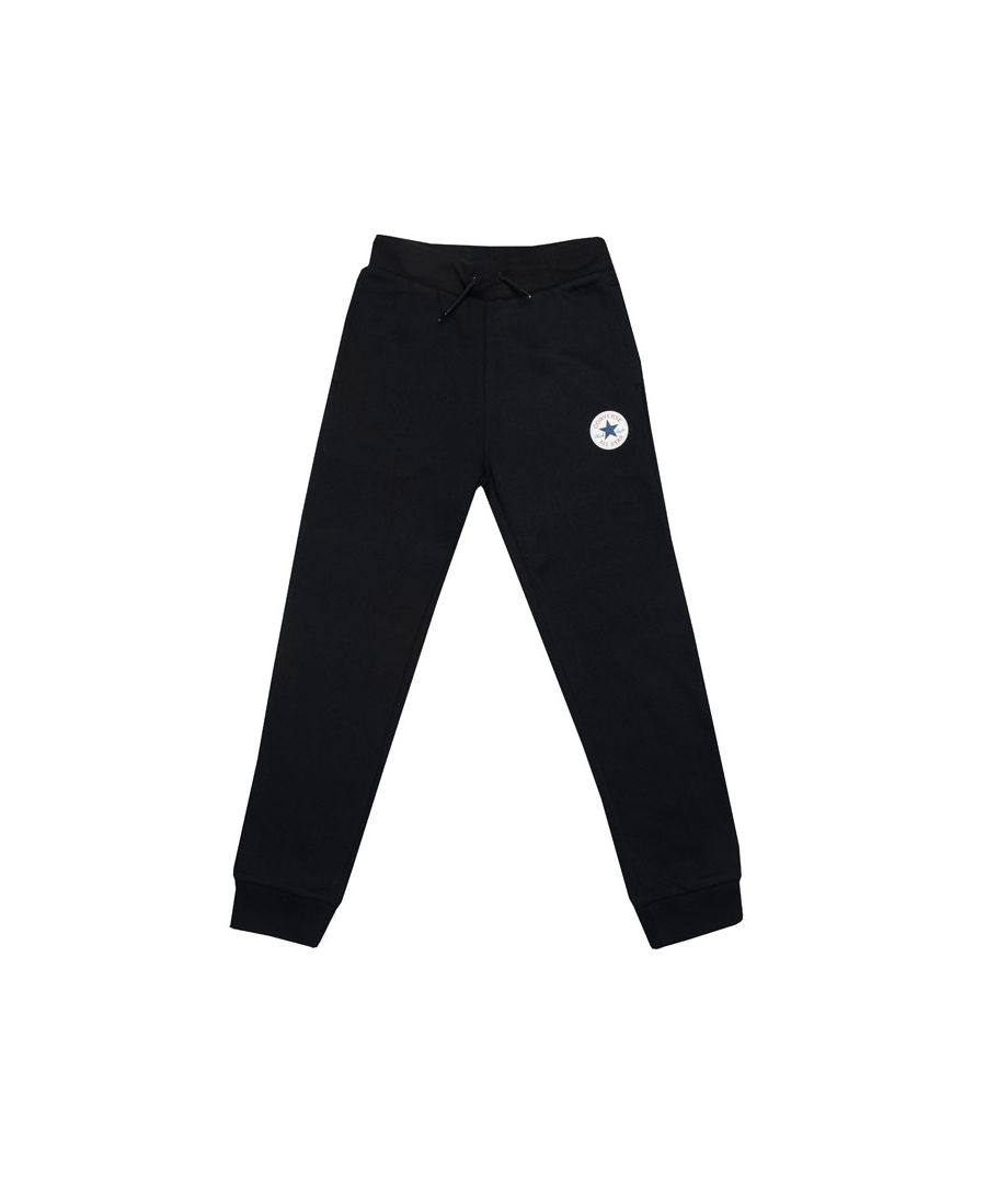 Image for Boy's Converse Junior Chuck Patch Jog Pants in Black
