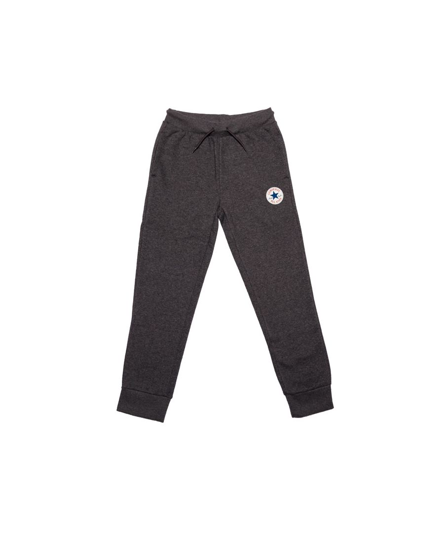Image for Boy's Converse Junior Fleece Chuck Patch Jog Pants in Charcoal