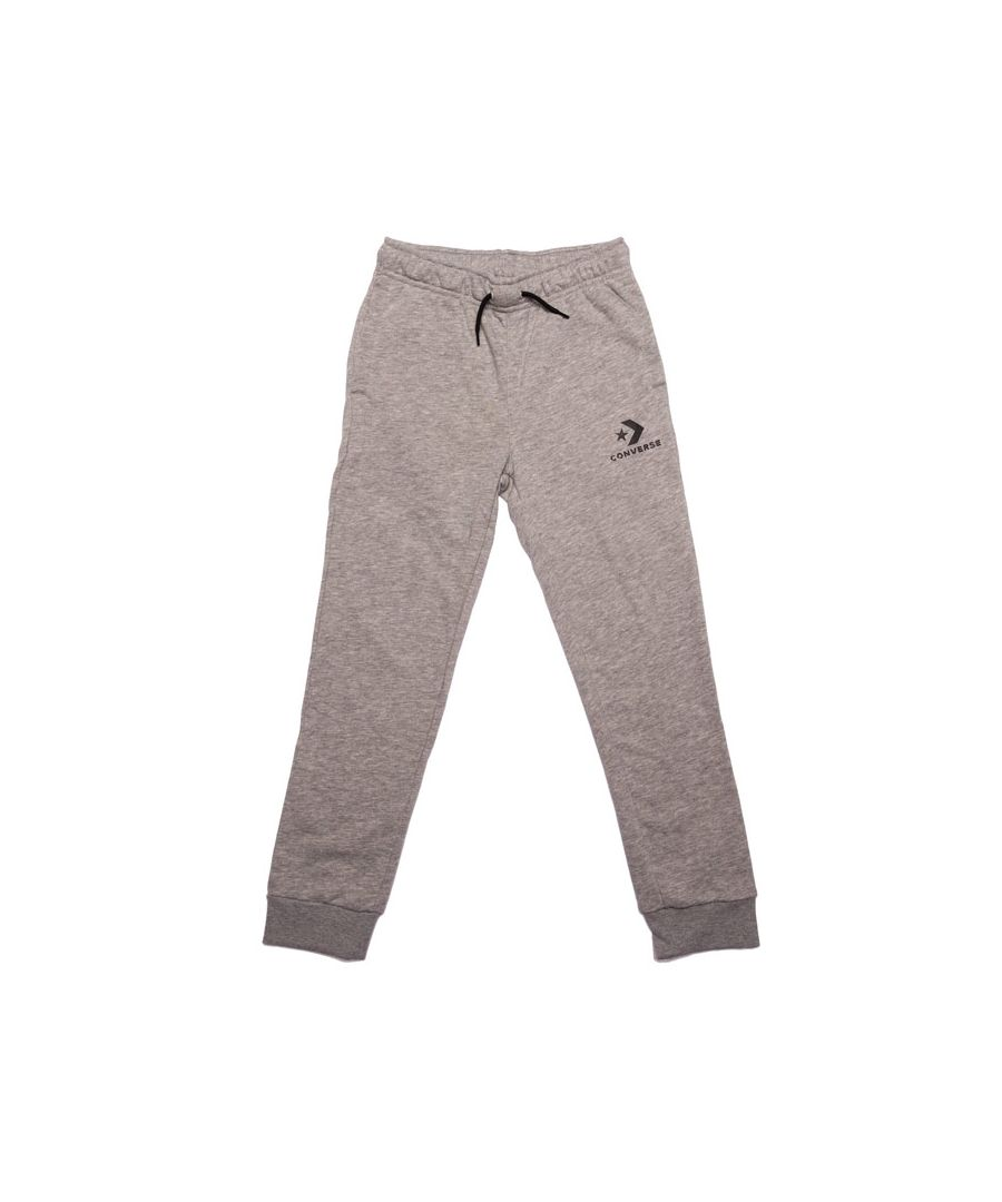 Image for Boy's Converse Junior Stacked Wordmark F.T Jog Pants in Grey