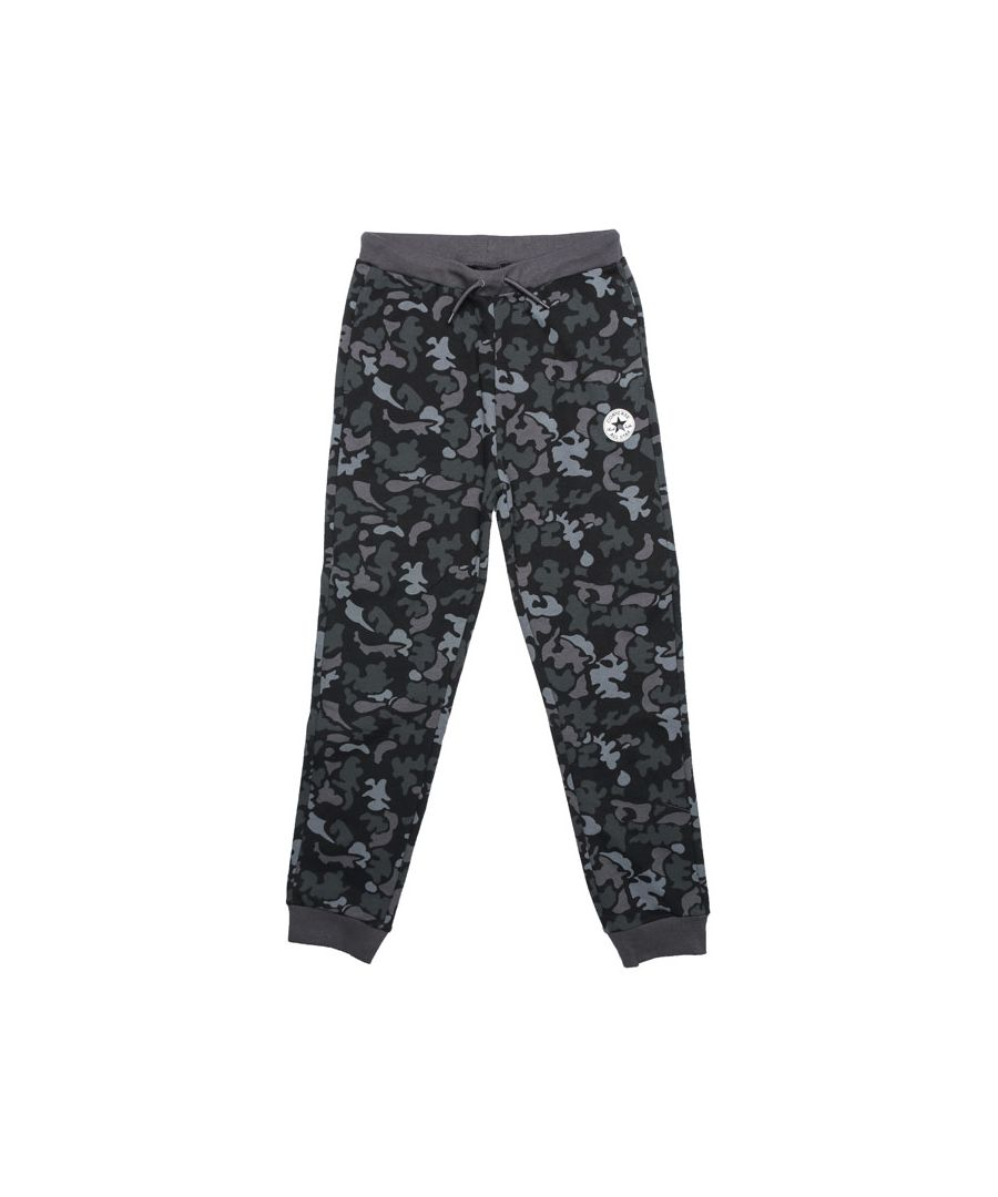 Image for Boy's Converse Junior Signature Chuck Camo Jog Pants in Black