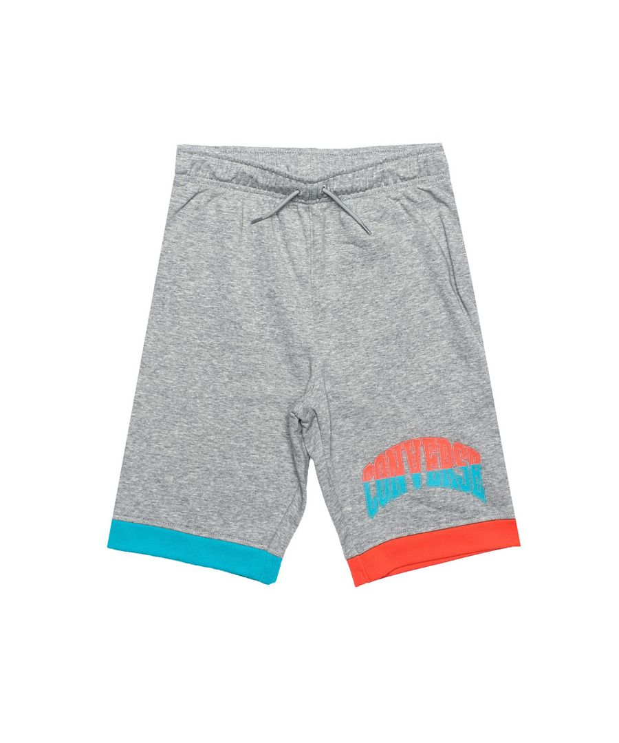 Image for Boy's Converse Junior Asymmetrical Colourblock Shorts in Grey