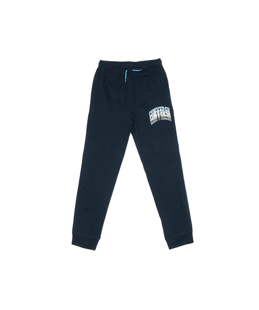 Image for Boy's Converse Junior Collegiate Repeat Jog Pants in Navy