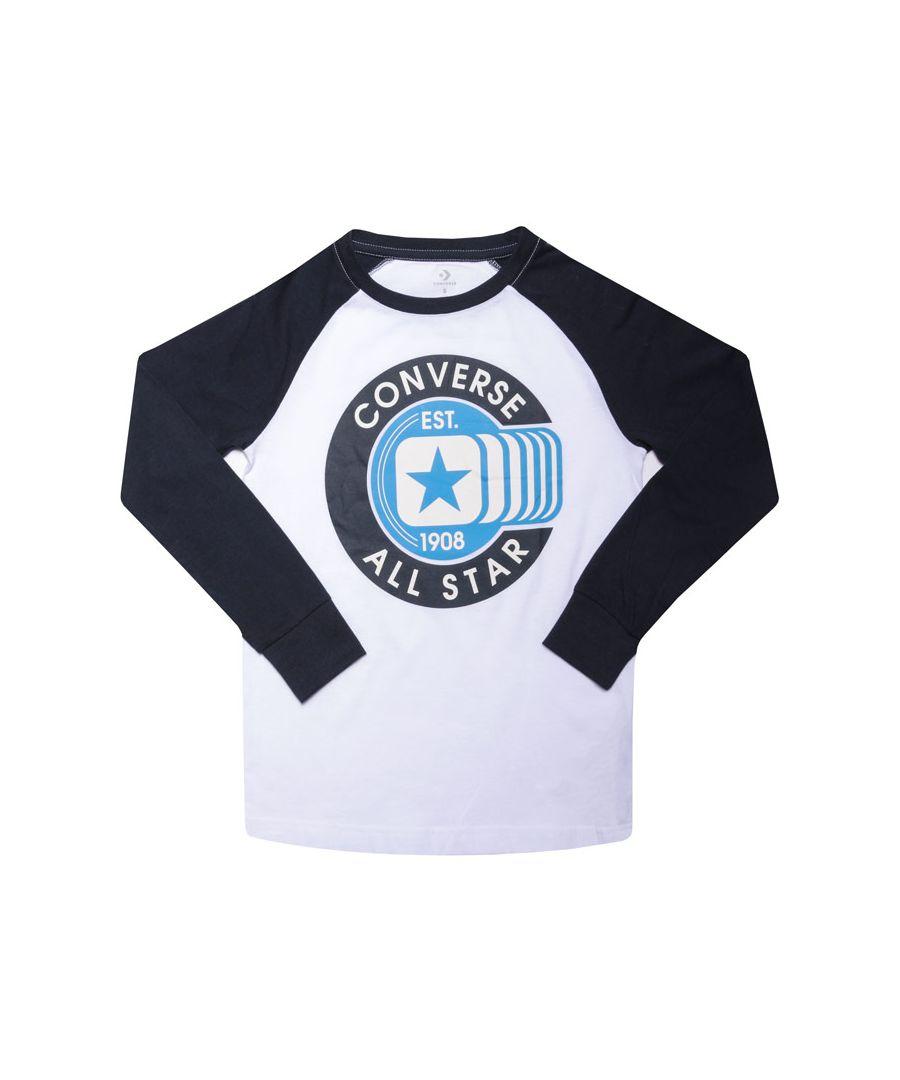 Image for Boy's Converse Junior Raglan T-Shirt in White