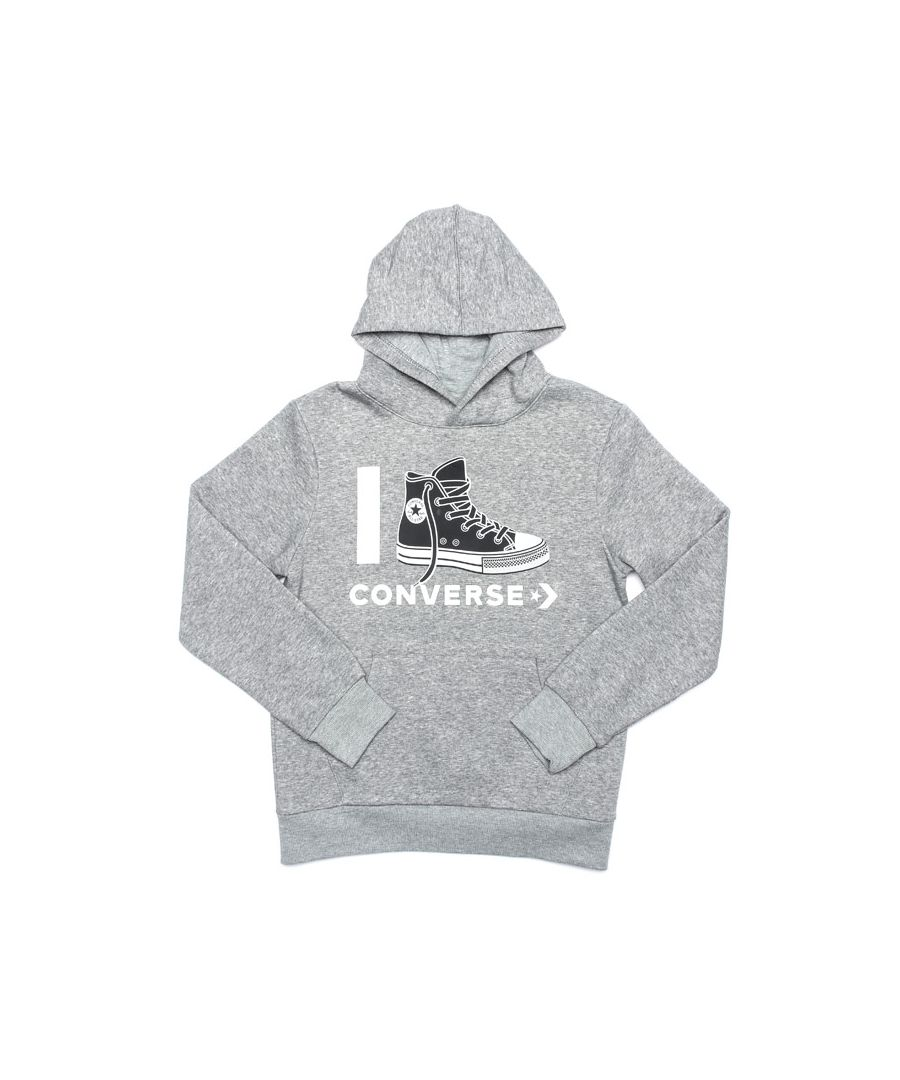 Image for Boy's Converse Junior I Love  Hoody in Grey