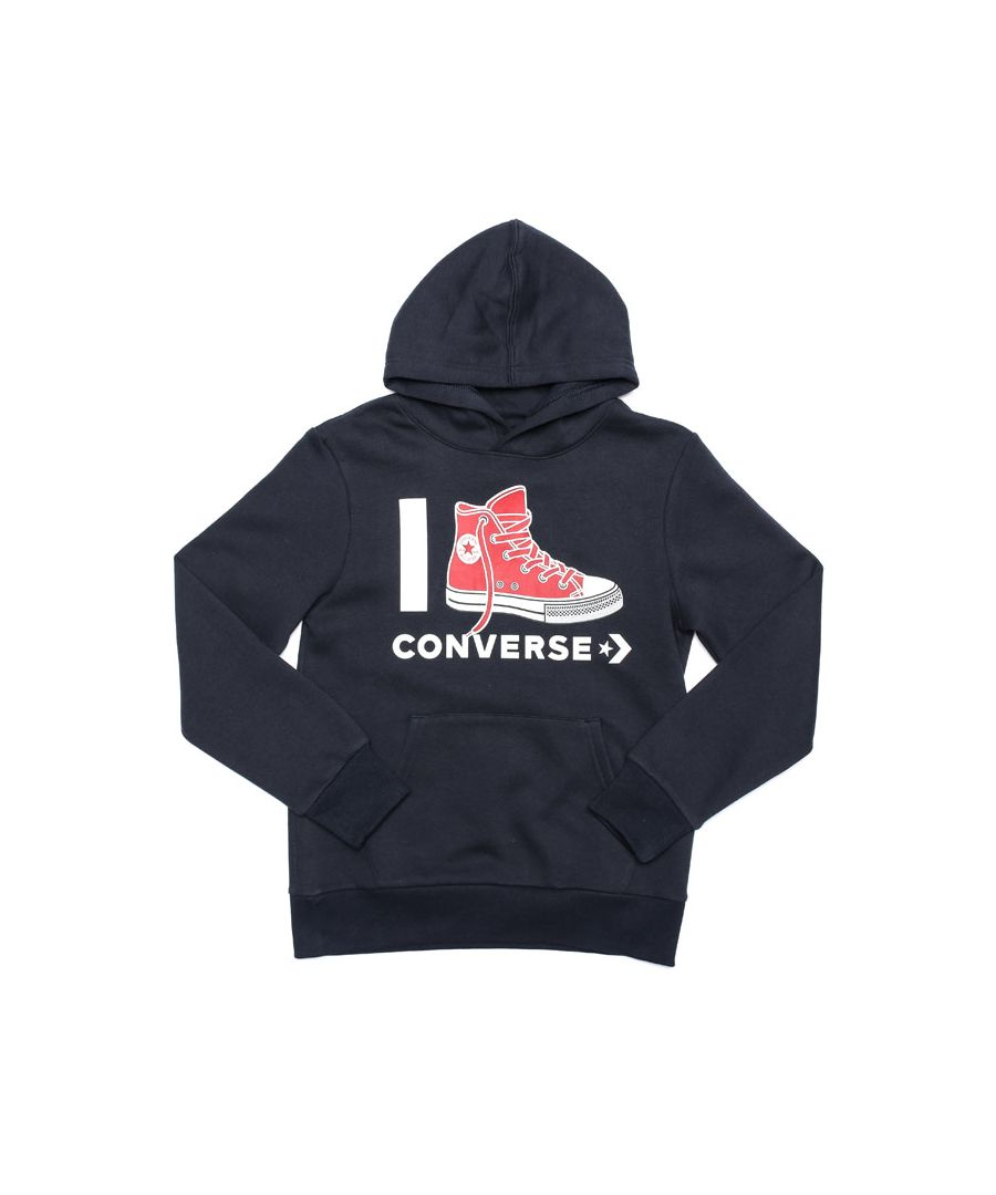 Image for Boy's Converse Junior I Love  Hoody in Navy