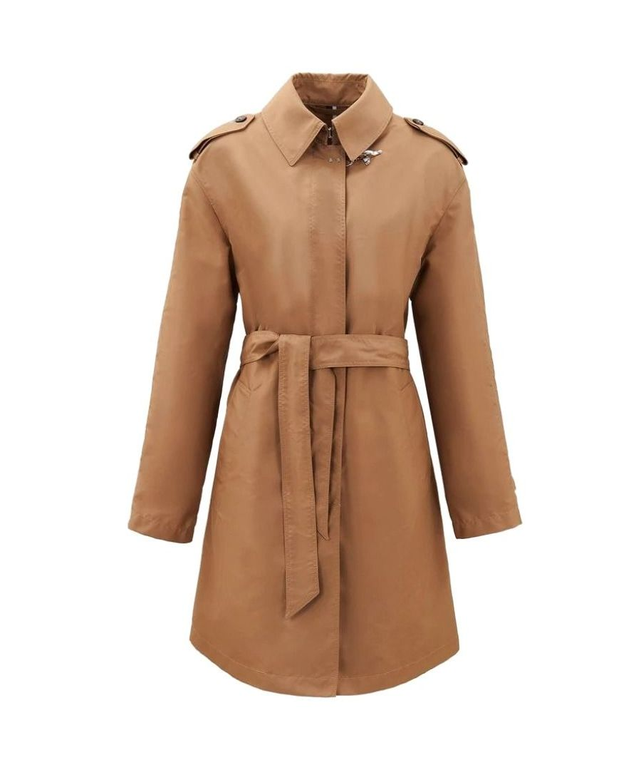 Image for FAY WOMEN'S NAW60403790AXXC806 BROWN POLYESTER TRENCH COAT