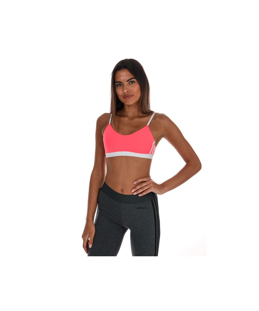 Image for Women's Adidas All Me 3-Stripes Bra in Pink