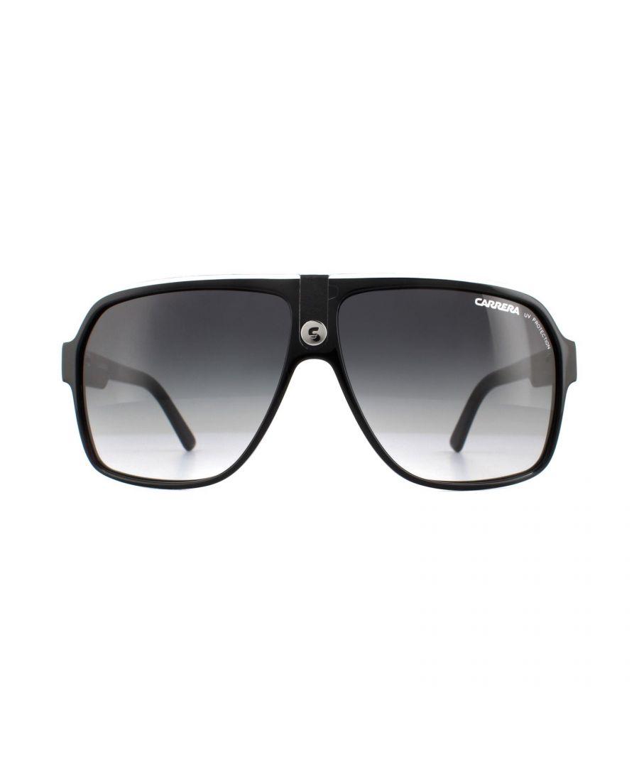 Image for Carrera Sunglasses Carrera 33 8V6 9O Black and White Grey Gradient