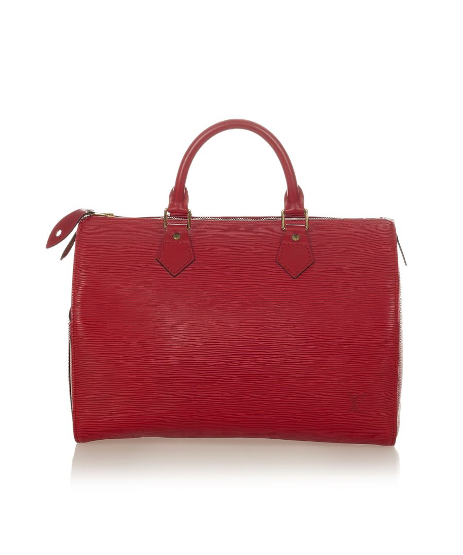 Image for Vintage Louis Vuitton Epi Speedy 30 Red